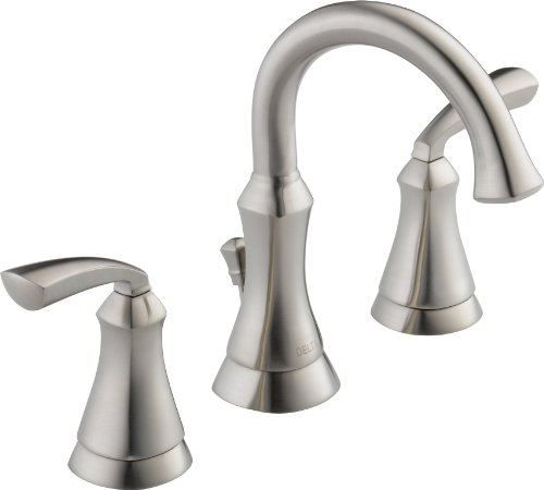 Delta 35962Lf-Ss Mandara Two Handle Widespread Lavatory Faucet, Stainless front-1016881