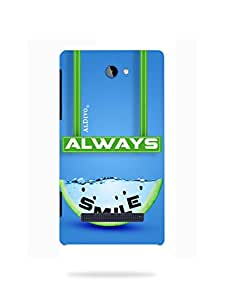 alDivo Premium Quality Printed Mobile Back Cover For HTC 8S / HTC 8S Back Case Cover (MKD244)