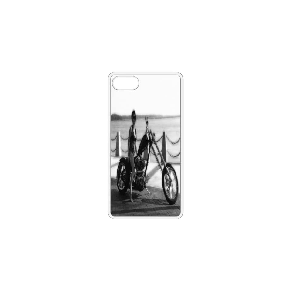 Modeling On Motorcycle 2 Image   White Apple Iphone 5 Cell Phone Case   Cover