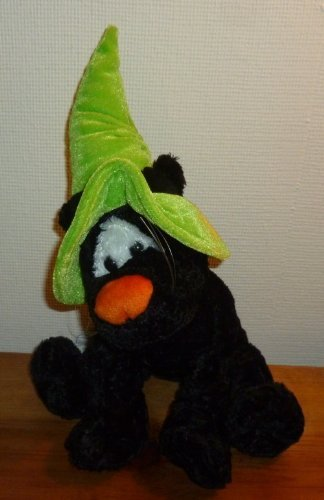 Halloween Black Cat Plush Stuffed Animal - 1