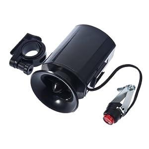 TIMETOP 6 Sounds Black Bicycle Electronic Bell Alarm Siren Horn Loud Speaker