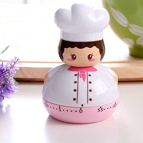 Lucky Beth 60 mins Cute Fat Chef Shape Mechanical Kitchen Timer Cooking Count Down (Chef Timer compare prices)