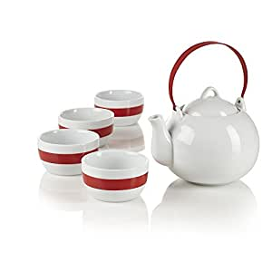 Teavana red spin 5 piece tea set teapots - Teavana teapot set ...
