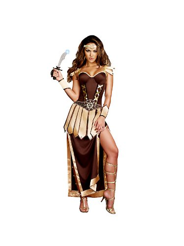 Women's Sexy Remember the Trojans Warrior Costume L