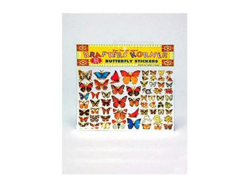 Large pack butterfly stickers - Case of 24