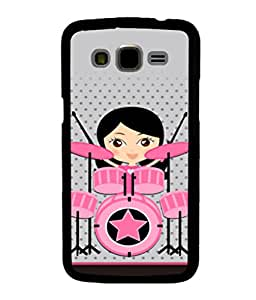 printtech Drummer Girl Star Back Case Cover for Samsung Galaxy J5::Samsung Galaxy J5 J500F