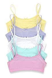 5 Pack Cotton Rich Assorted Crop Tops