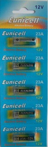 Eunicell Lot de 5 piles alcalines 12 V 23 A