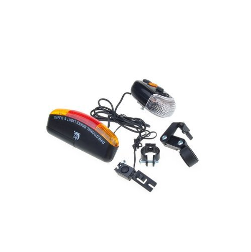 Cycling Bicycle Bike Turn Signal Brake Tail 7 Led 8 Tune Electric Horn Light