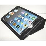 iPad mini ケース/アイパッド ミニ/スタンドB型/合皮製/牛皮模様/ブラック/黒色