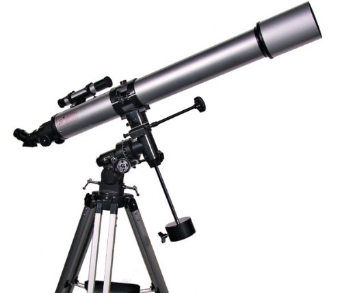 Silver Twinstar 90Mm High-Power Refractor Telescope