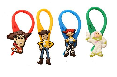 4 pezzi Toy Story # 2 Colorato Soft Zipper Pull Pendaglio di Zaino di Giacca