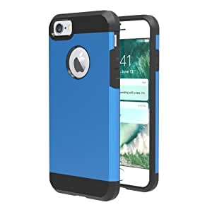 Crazy4Gadget For iPhone 7 Separable Corselet TPU + PC Combination Case (Blue)