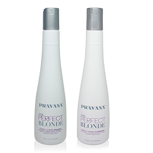 PRAVANA THE PERFECT BLONDE Purple Toning Shampoo and Conditioner DUO (10.1Oz each ) (Purple Toning Conditioner compare prices)