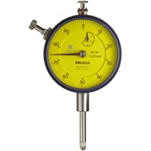 "Mitutoyo Dial Indicator, Metric, #4-48 UNF Thread, 0.375"" Stem Diameter"