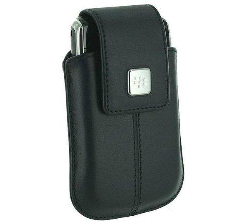 Housse cuir avec clip rotatif - bleu  Pour Blackberry 8520, 8900