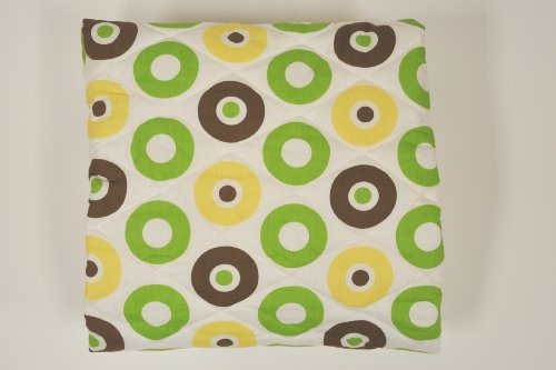 Bacati Mod Dots/Strps Green Quilted Sheet - 1