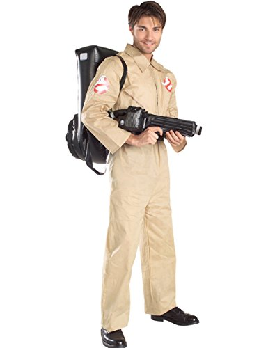 Men's Ghostbusters 1980s Movie Costume. Officially licensed with inflatable backpack.