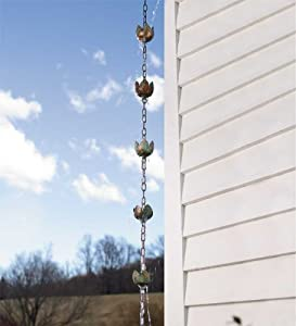 Copper Lotus Rain Chain Downspout-Replacement