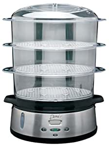 Deni 7600 3-Tier 9-1/2-Quart Stainless-Steel Digital Food Steamer