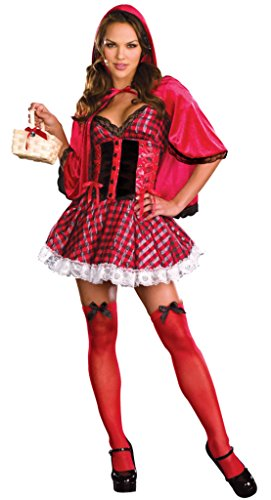 Dreamgirl Womens Little Red Riding Hood Fairytale Outfit Fancy Dress Sexy Costume