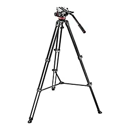 Manfrotto MVK502AM Video Telescoping Twin Leg Kit with 502 Video Head and Carry Bag