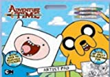Adventure Time Artist Pad Includes 3 Crayons Reusable Stickers