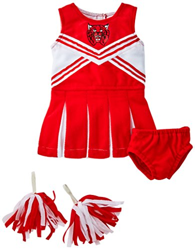 Unique Doll Clothing Doll Red and White Cheerleader Outfit for 18