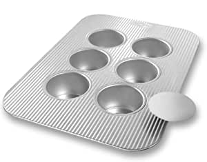 USA Pans 6-Well Mini Cheesecake Pan with Removable Bottoms