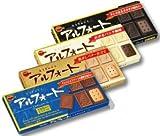 アルフォートミニチョコレート、ブロンドミルク、バニラホワイト、ブラック 各1箱
