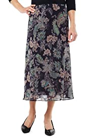 Classic Collection Paisley Print Skirt [T58-7525-S]