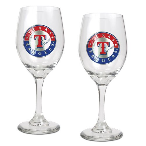 MLB Texas Rangers 14-Ounce Wine Glass (Set of Two) at Amazon.com