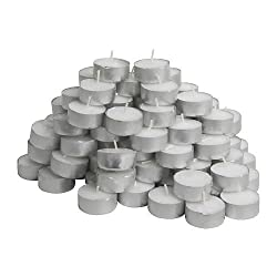 Tealight Candles Set of 50 (White)