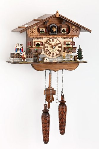 German Cuckoo Clock Quartz-movement Chalet-Style 10 inch - Authentic black forest cuckoo clock by Trenkle Uhren