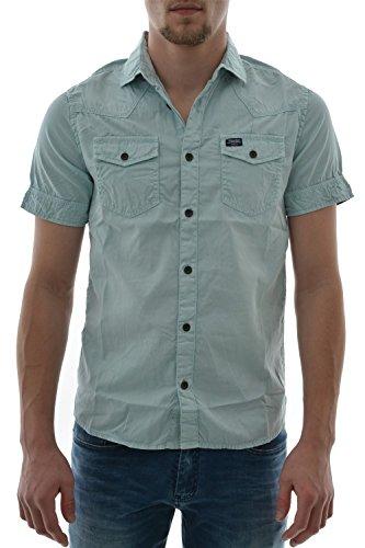 Camicia a maniche corte, petrol industries sis410 shirt ss, colore: blu blu X-Large