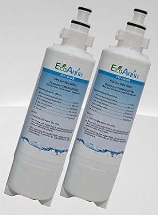 Vyair EcoAqua Panasonic CNRAH-257760 - Set de dos filtros de agua  compatibles con frigoríficos dc2a7c97c81