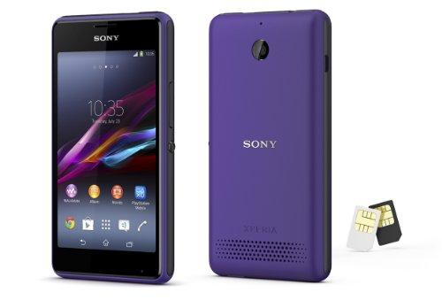 海外版SIMフリー Sony ソニー XPERIA E1 Dual D2105 dual デュアルSIM [並行輸入品] (パープル)