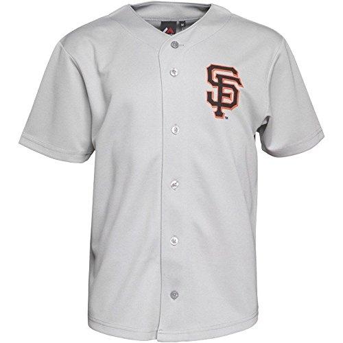 Mens Majestic San Francisco Giants Baseball Jersey Maglia Nuova T Shirt, Uomo, Grey, S