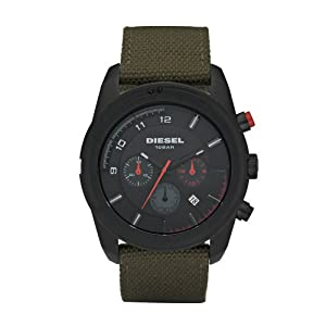 Amazon.com: Diesel DZ4189 Mens Advanced Military Green Watch: Watches