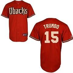 Mark Trumbo Arizona Diamondbacks Alternate Red Replica Jersey by Majestic by Majestic