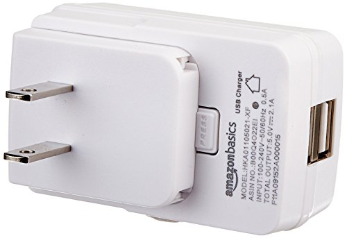 AmazonBasics Dual Port USB Wall Charger - 2.1 Amp
