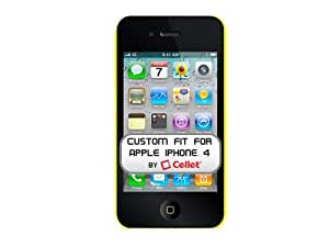 Cellet Ultra Thin Proguard Case for Apple iPhone 4 & 4S - Neon Green