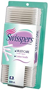 Swisspers Premium Multi Care Cotton Swabs, White Plastic Sticks, 300-Count (Pack of 6) at Sears.com
