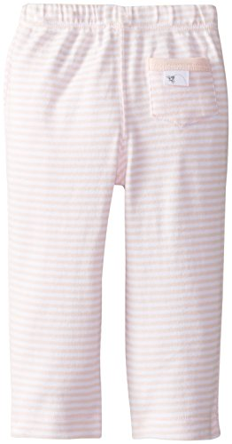 Burt's Bees Baby Baby-Girls Organic Kimono Top and Striped Pant Set, Blossom, 3-6 Months