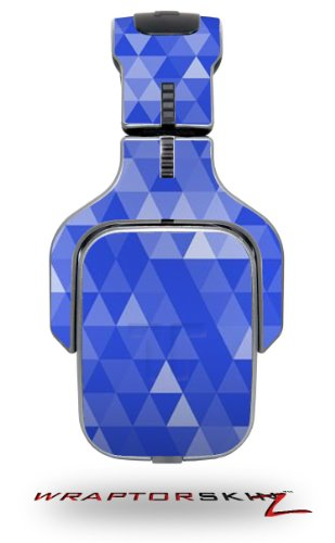 Triangle Mosaic Blue Decal Style Skin (Fits Tritton Ax Pro Gaming Headphones - Headphones Not Included)