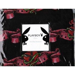 Playboy heart tattoo queen sheet bedding set for Tattoo bedding queen
