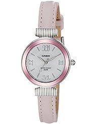 Casio Enticer Ladies Analog White Dial Women's Watch-LTP-E405L-4AVDF