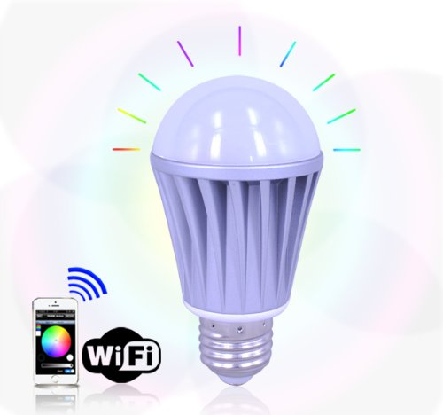 7W Wifi Control Rgbw Color Magic Led Light Lamp, For Ios Iphone Android Samsung Lg Htc Phone