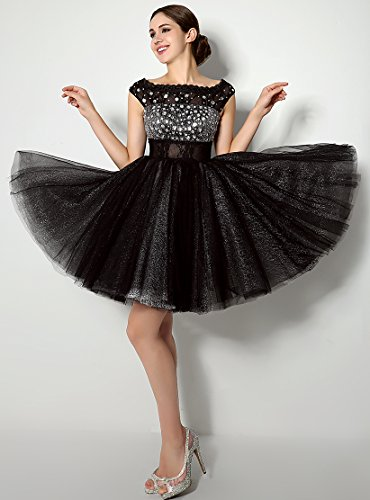 Eudolah Sexy Women Sequins Ball Gown Little Black Dress