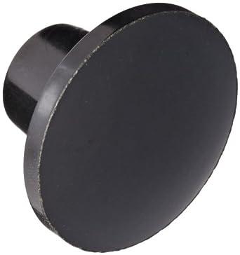"DimcoGray Black Phenolic Push-Pull Knob Female, Brass Insert: 1/4-20' Thread x 7/16"" Depth, 1-3/8"" Diameter x 7/8"" Height x 5/8"" Hub Dia x 5/8 Hub Length"